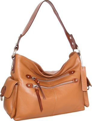 Nino Bossi Haleigh Hobo Cognac - Nino Bossi Leather Handbags