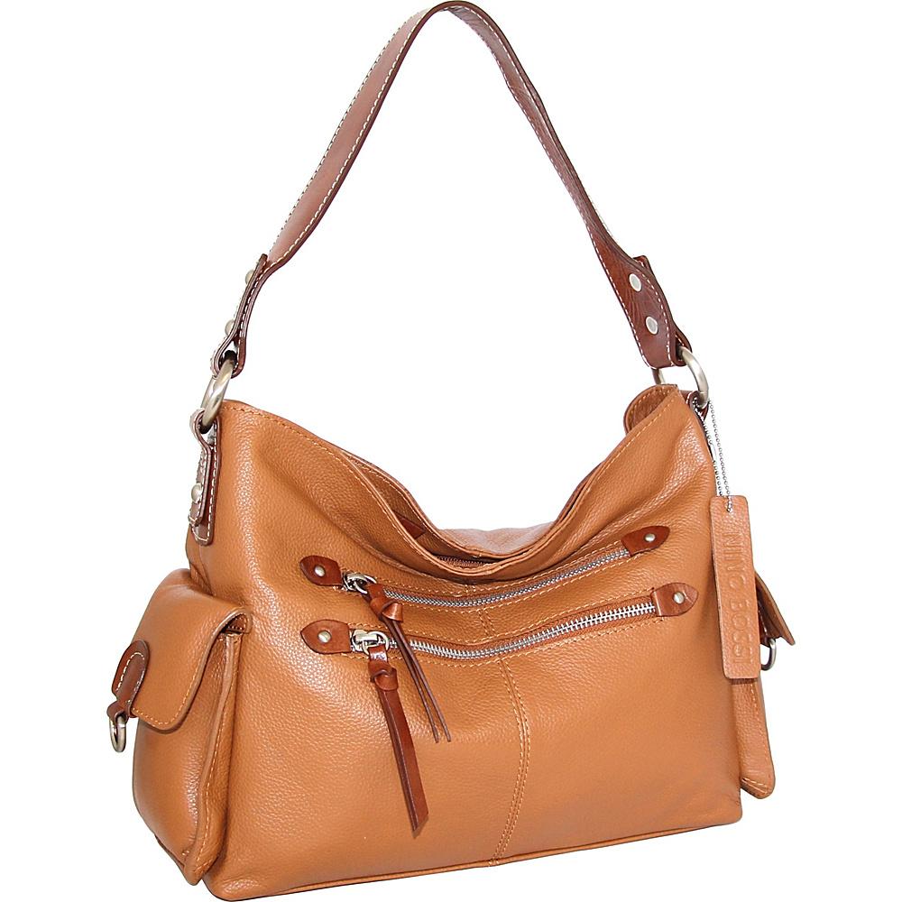 Nino Bossi Haleigh Hobo Cognac - Nino Bossi Leather Handbags - Handbags, Leather Handbags