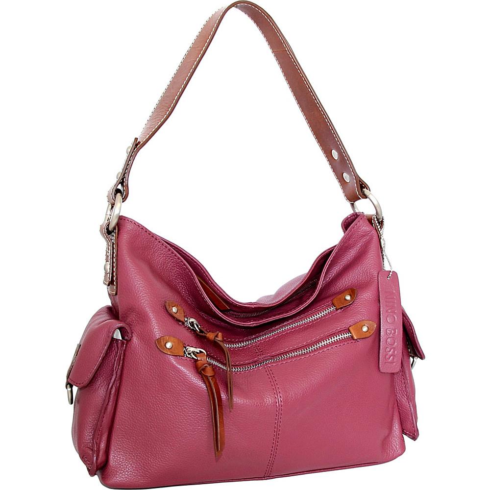 Nino Bossi Haleigh Hobo Merlot - Nino Bossi Leather Handbags - Handbags, Leather Handbags