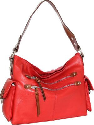 Nino Bossi Haleigh Hobo Crimson - Nino Bossi Leather Handbags