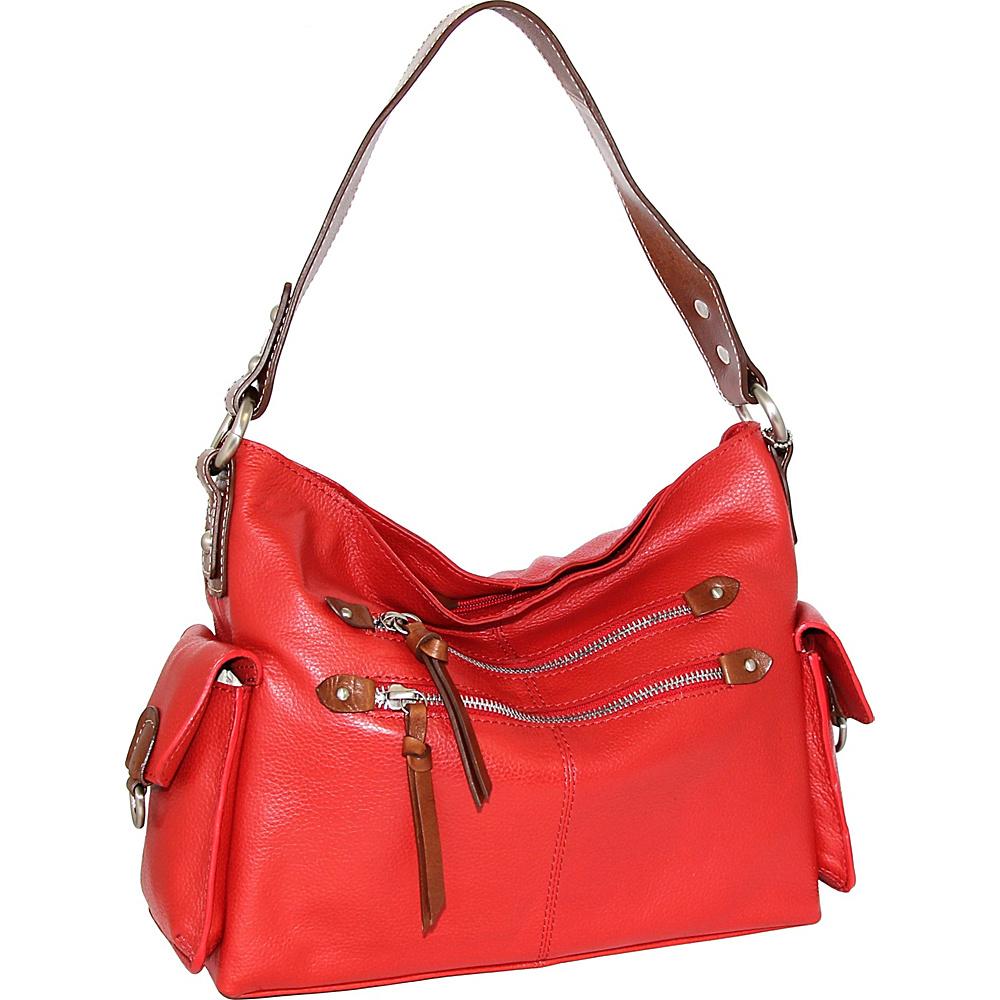 Nino Bossi Haleigh Hobo Crimson - Nino Bossi Leather Handbags - Handbags, Leather Handbags
