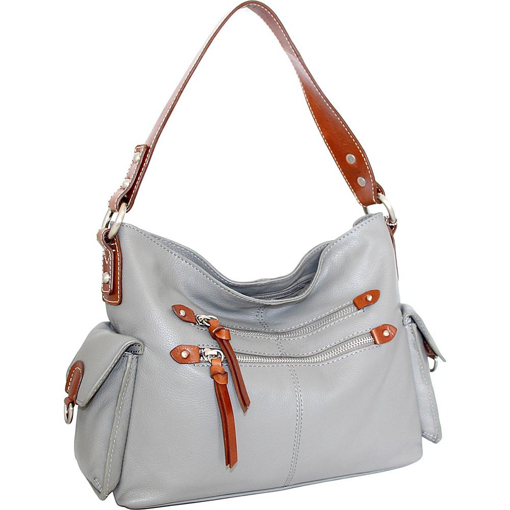 Nino Bossi Haleigh Hobo Stone - Nino Bossi Leather Handbags - Handbags, Leather Handbags