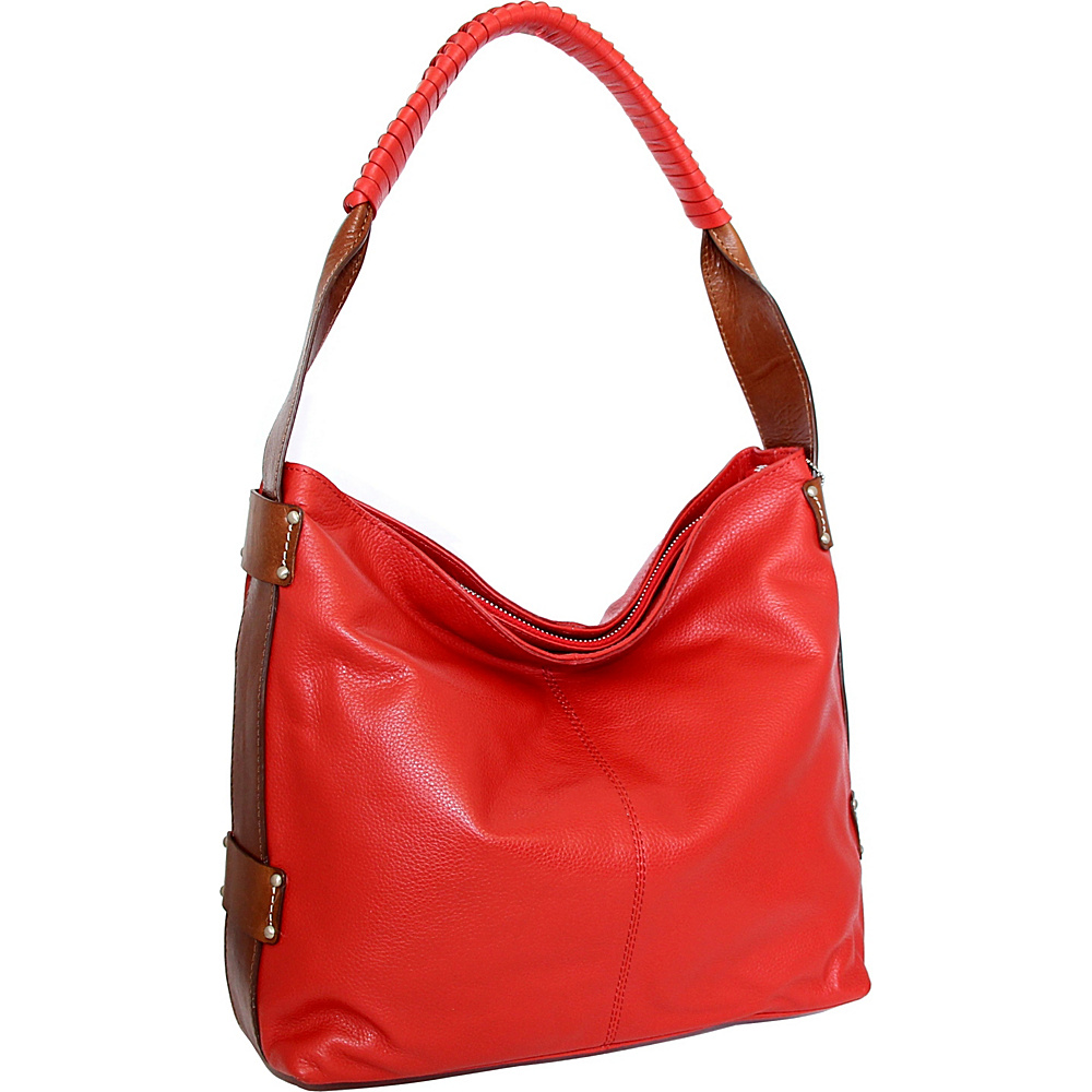 Nino Bossi Belle Hobo Crimson - Nino Bossi Leather Handbags - Handbags, Leather Handbags