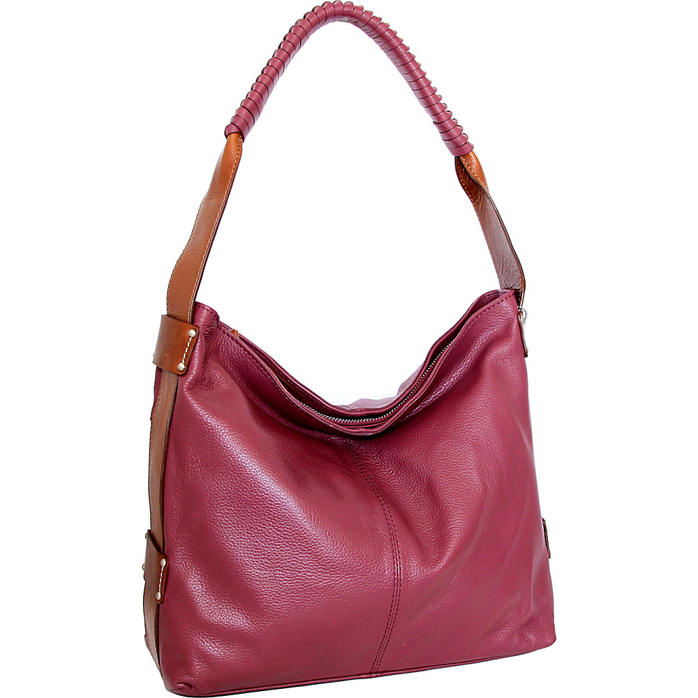 Nino Bossi Belle Hobo Merlot - Nino Bossi Leather Handbags - Handbags, Leather Handbags