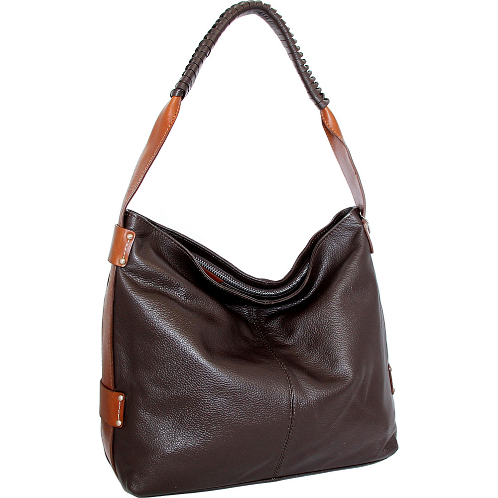 Nino Bossi Belle Hobo Chocolate - Nino Bossi Leather Handbags - Handbags, Leather Handbags