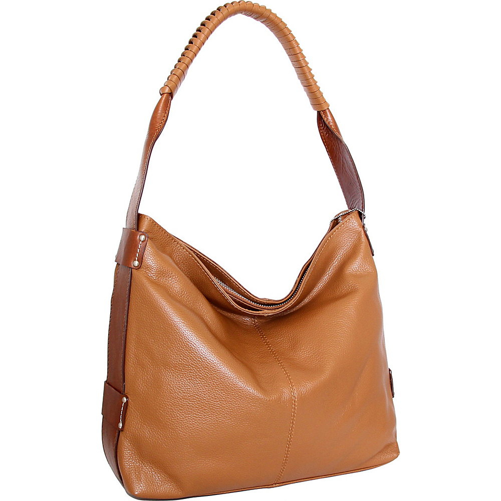 Nino Bossi Belle Hobo Cognac - Nino Bossi Leather Handbags - Handbags, Leather Handbags