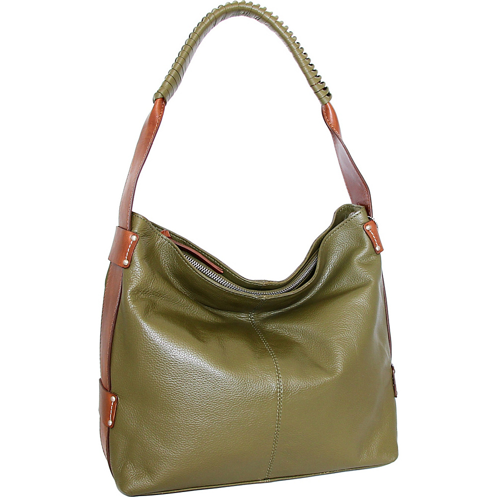 Nino Bossi Belle Hobo Loden - Nino Bossi Leather Handbags - Handbags, Leather Handbags
