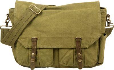TSD Coastal Messenger Army Green - TSD Messenger Bags