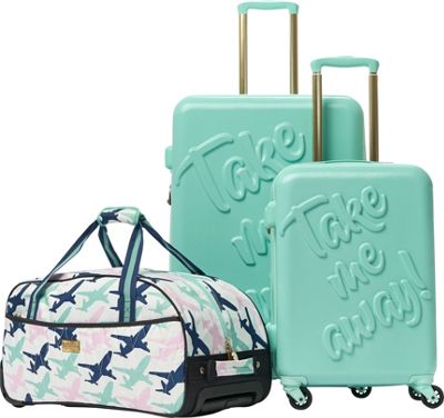 MacBeth Take Me Away 3 Piece Luggage Set Mint - MacBeth Luggage Sets