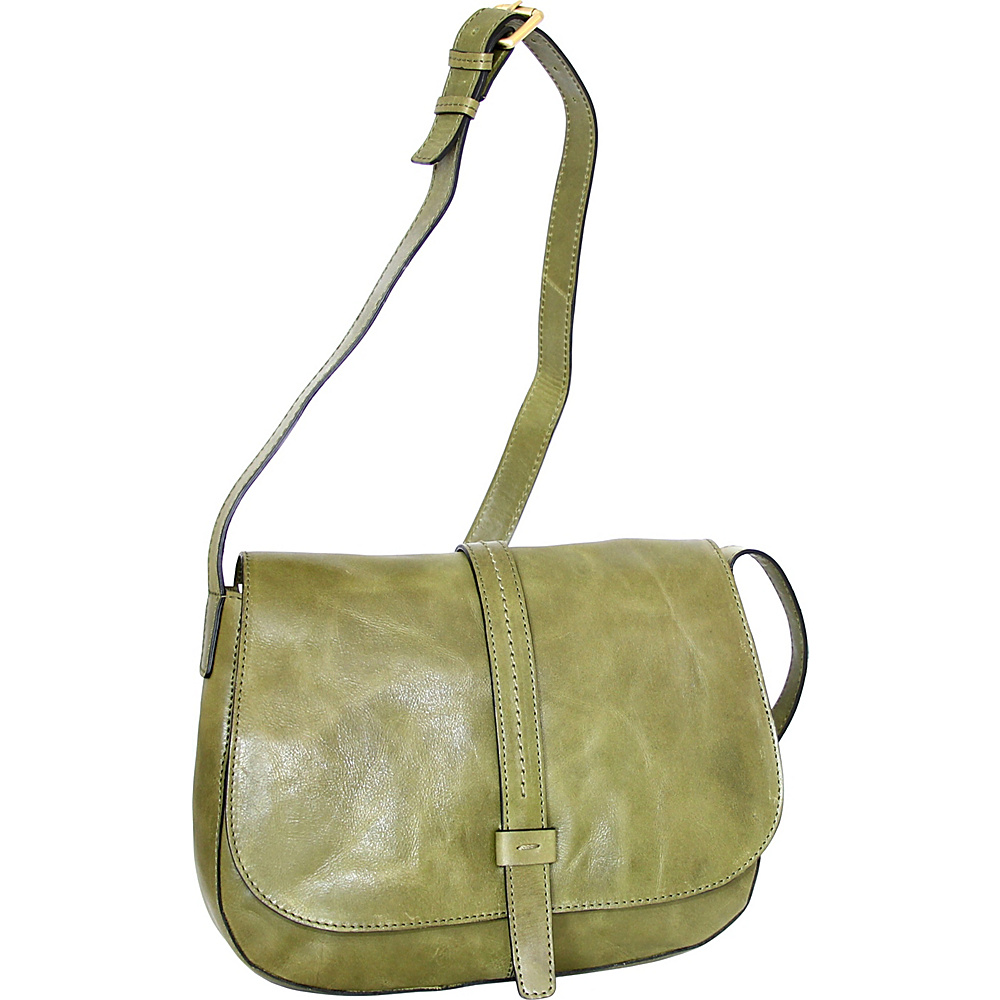 Nino Bossi Estelle Cross Body Avocado - Nino Bossi Leather Handbags - Handbags, Leather Handbags