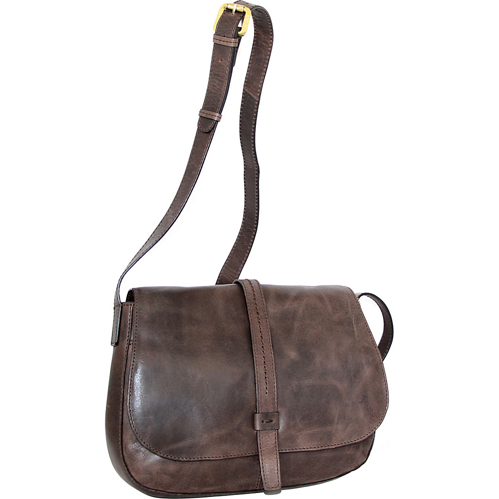 Nino Bossi Estelle Cross Body Chocolate - Nino Bossi Leather Handbags - Handbags, Leather Handbags