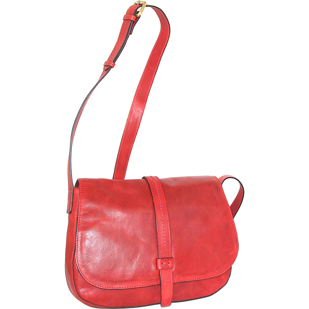 Nino Bossi Estelle Cross Body Red - Nino Bossi Leather Handbags - Handbags, Leather Handbags