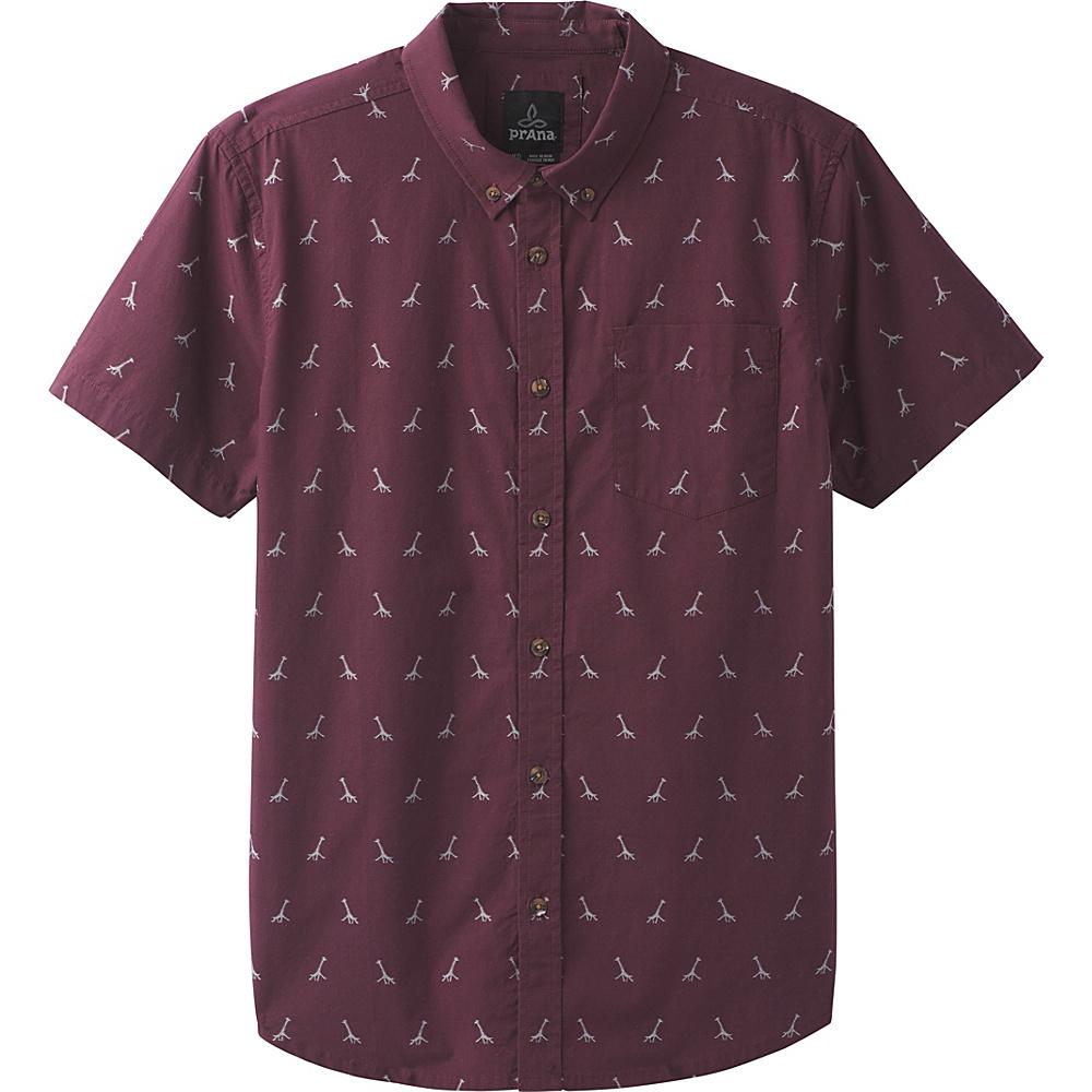 PrAna Broderick Embroidery Short Sleeve Shirt XL - Thistle - PrAna Mens Apparel - Apparel & Footwear, Men's Apparel