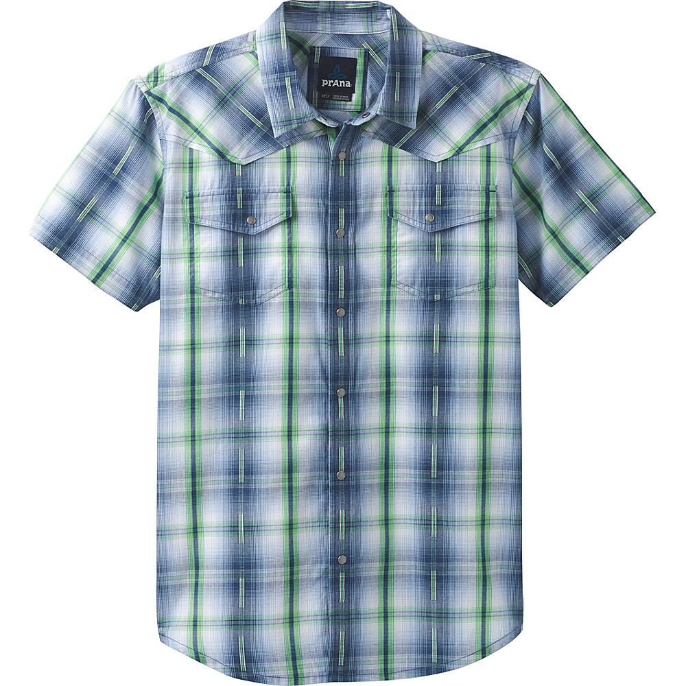 PrAna Holstad Short Sleeve Shirt S - Equinox Blue - PrAna Mens Apparel - Apparel & Footwear, Men's Apparel