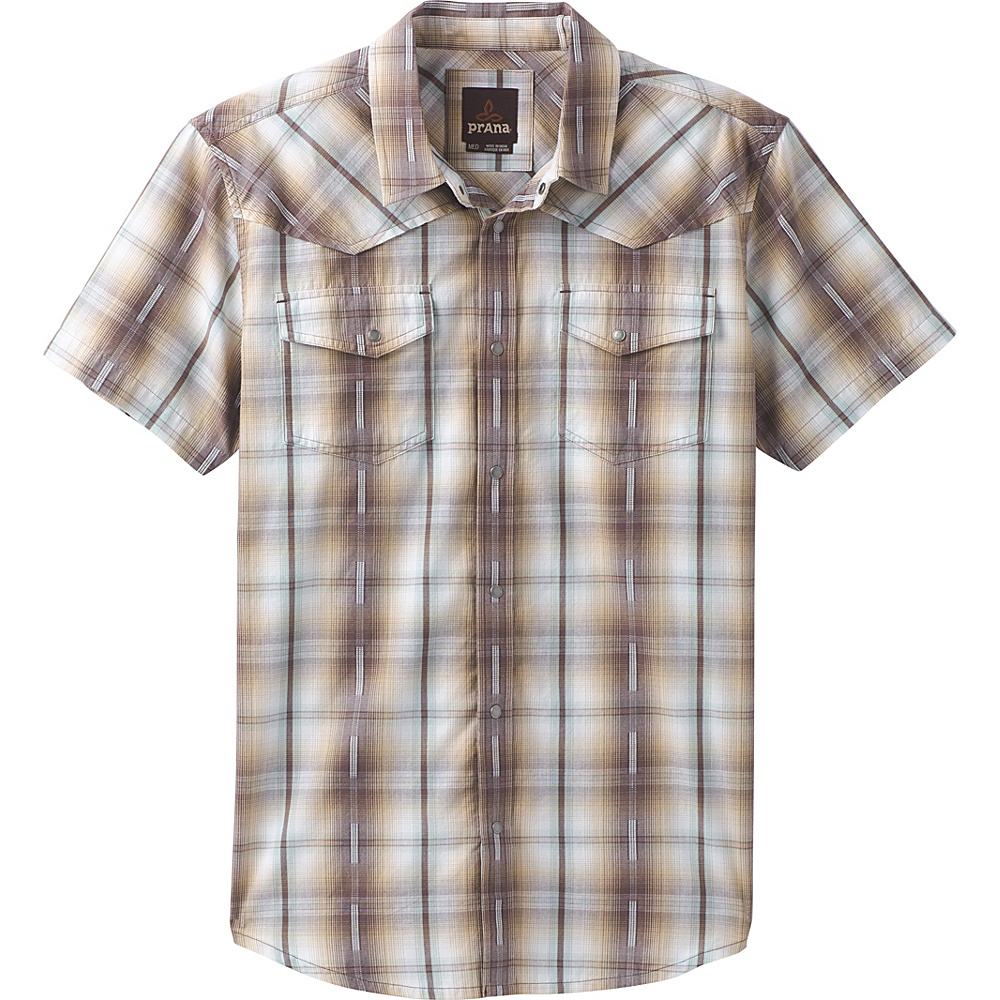 PrAna Holstad Short Sleeve Shirt M - Volcanic Plum - PrAna Mens Apparel - Apparel & Footwear, Men's Apparel