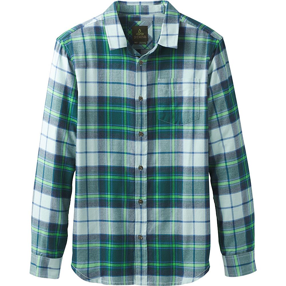 PrAna Shayne Long Sleeve Flannel XXL - Arctic Stone - PrAna Mens Apparel - Apparel & Footwear, Men's Apparel