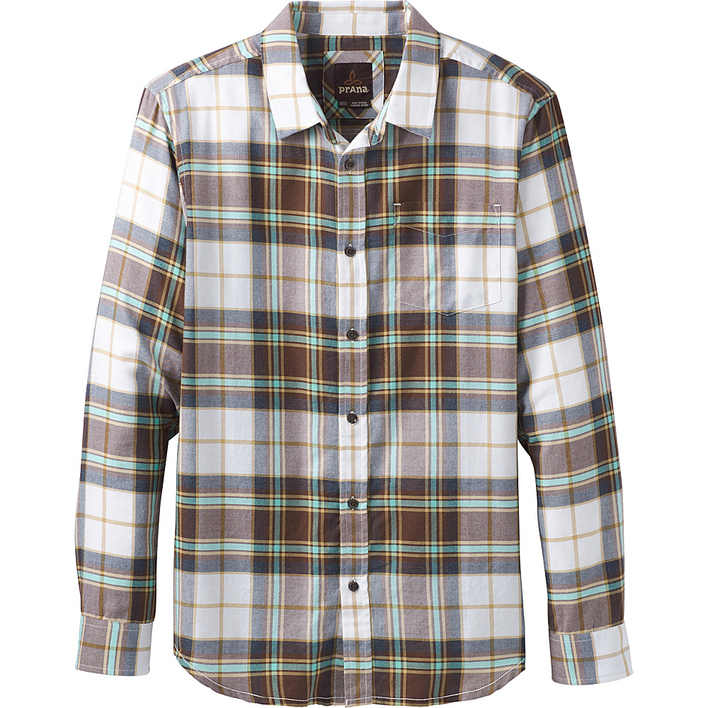 PrAna Shayne Long Sleeve Flannel M - Brown Cloves - PrAna Mens Apparel - Apparel & Footwear, Men's Apparel