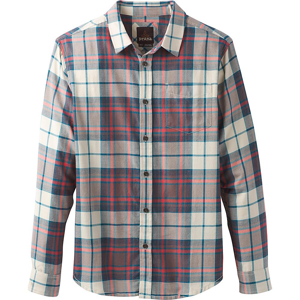 PrAna Shayne Long Sleeve Flannel M - Crimson - PrAna Mens Apparel - Apparel & Footwear, Men's Apparel
