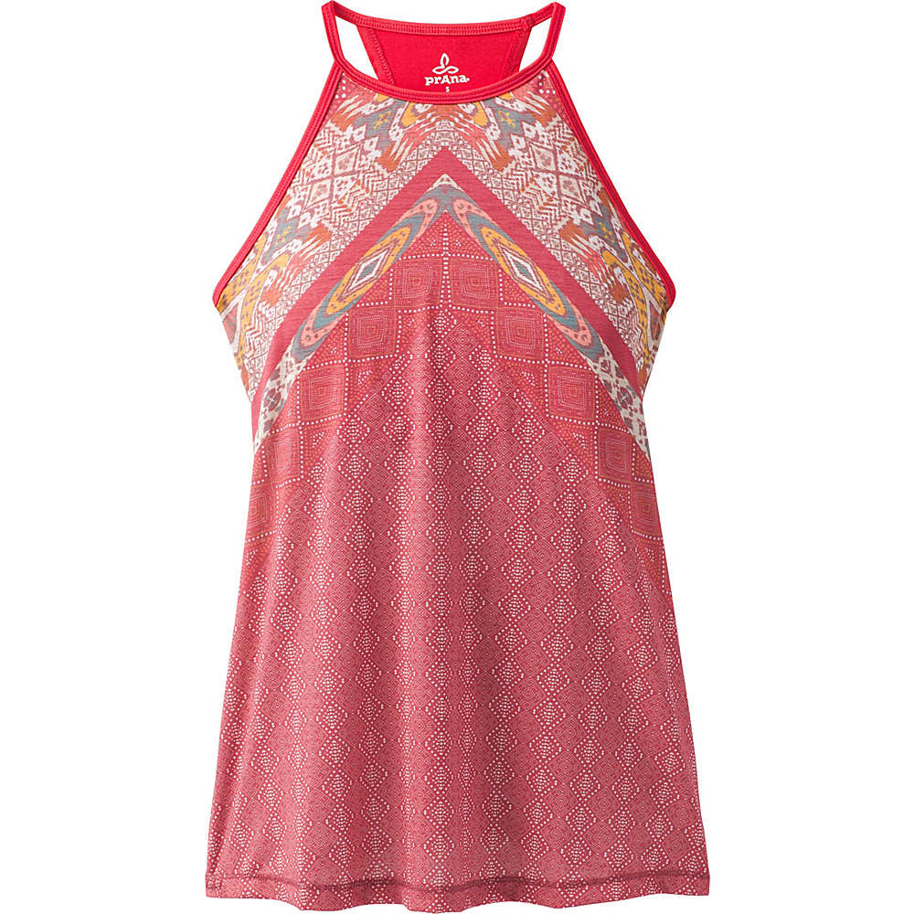 PrAna Path Top S - Crushed Cran Marrakesh - PrAna Womens Apparel - Apparel & Footwear, Women's Apparel