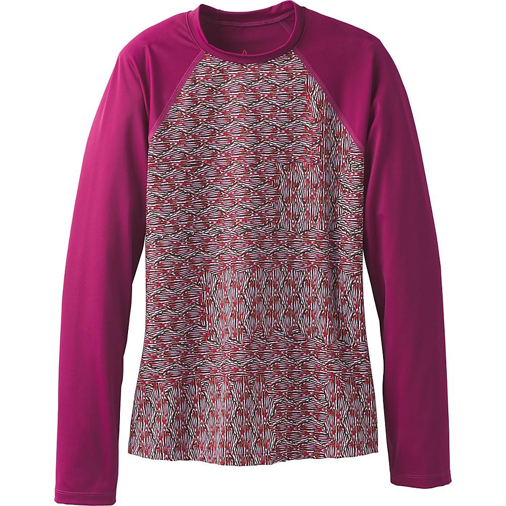PrAna Charline Sun Top S - Pomegranate Seashells - PrAna Womens Apparel - Apparel & Footwear, Women's Apparel