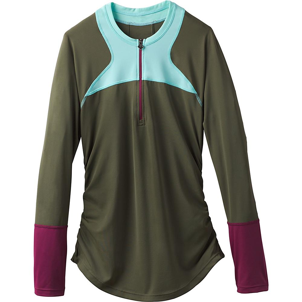 PrAna Martine Sun Top M - Cargo Green Color Block - PrAna Womens Apparel - Apparel & Footwear, Women's Apparel