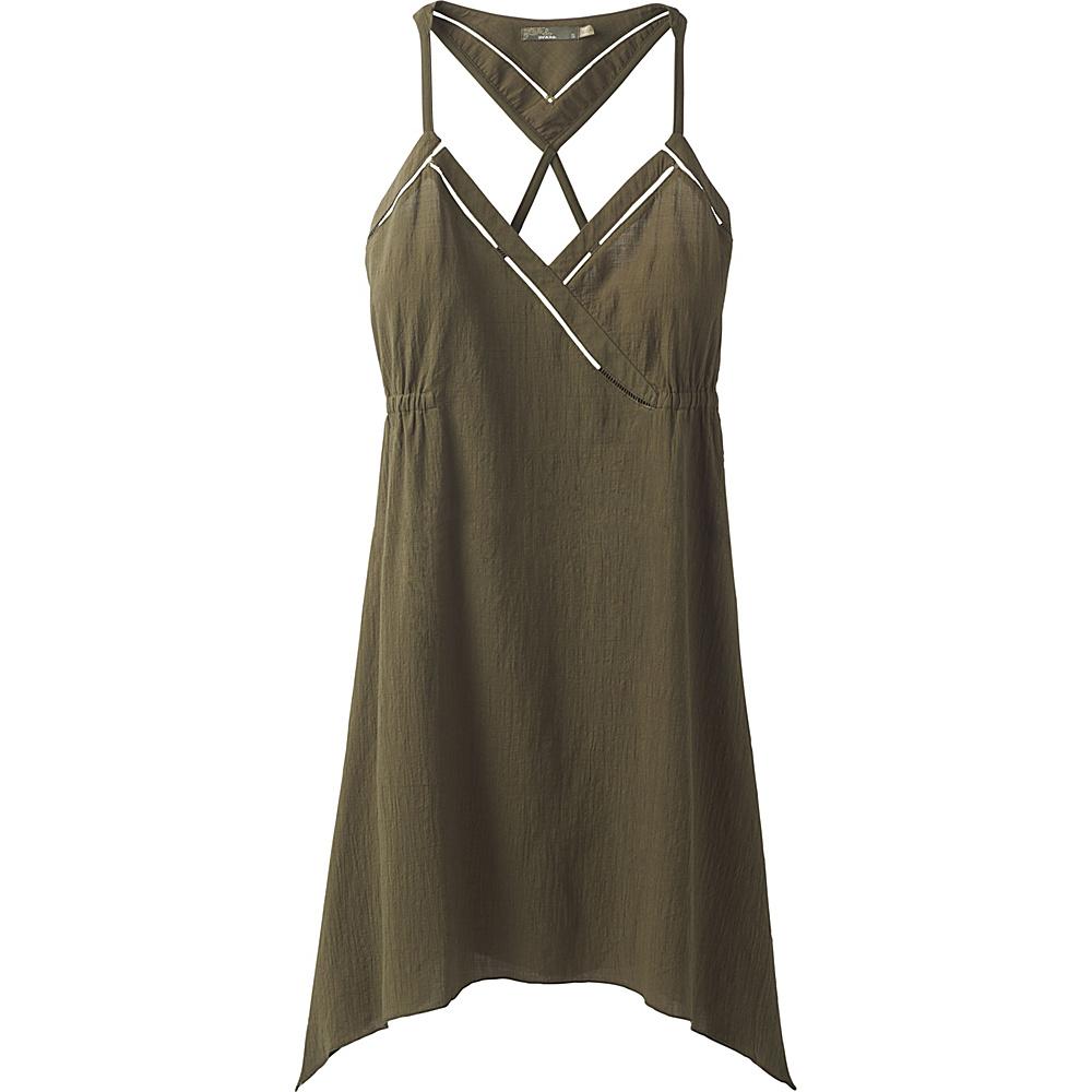 PrAna Darya Dress L - Cargo Green - PrAna Womens Apparel - Apparel & Footwear, Women's Apparel