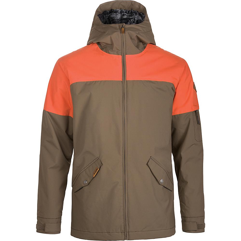 DAKINE Mens Denison Jacket L - Tarmac / Burnt Ochre - DAKINE Mens Apparel - Apparel & Footwear, Men's Apparel