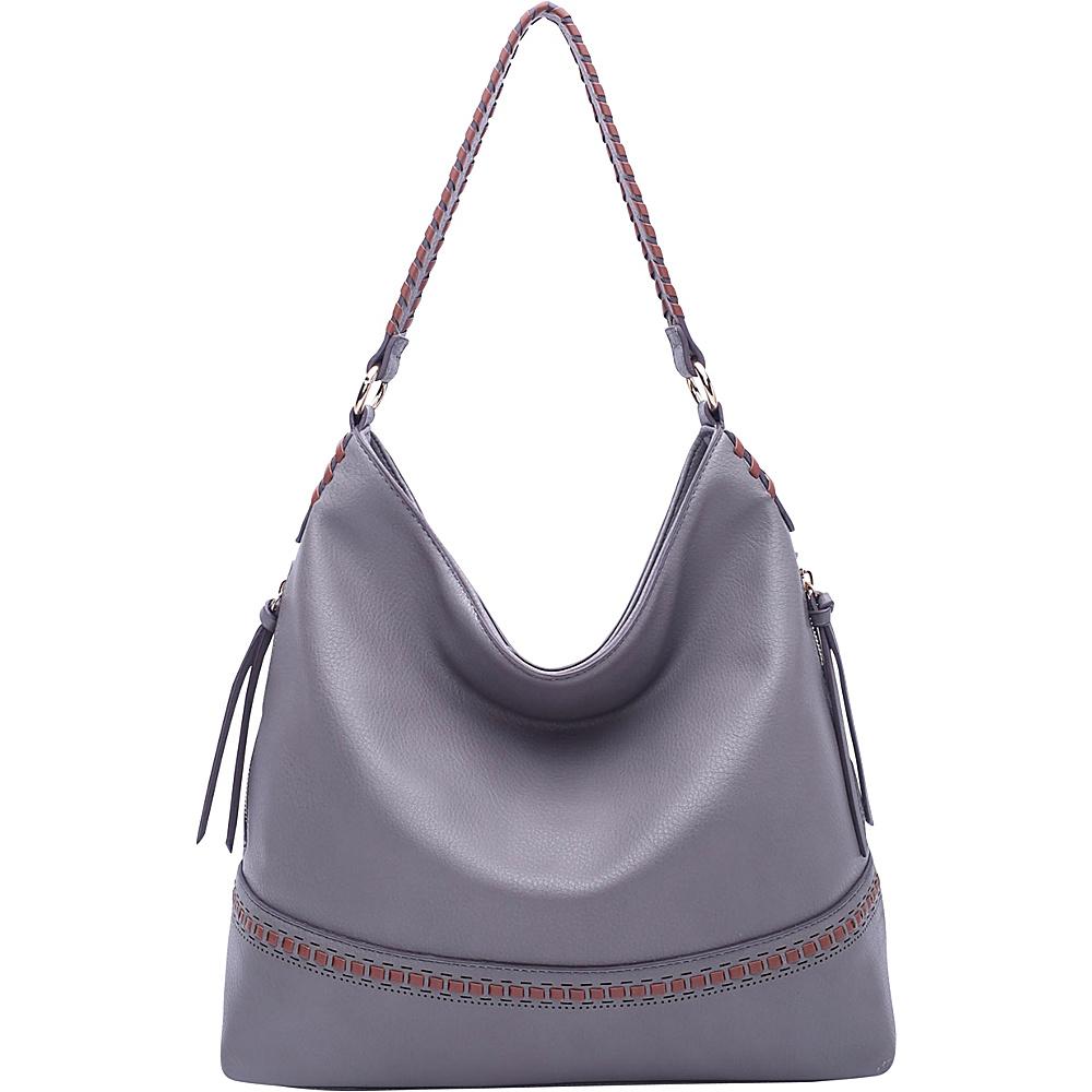 MKF Collection by Mia K. Farrow Elle Fashion Hobo Grey - MKF Collection by Mia K. Farrow Manmade Handbags - Handbags, Manmade Handbags