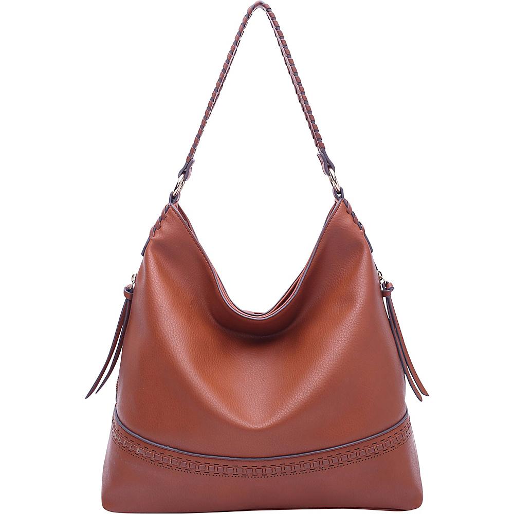 MKF Collection by Mia K. Farrow Elle Fashion Hobo Brown - MKF Collection by Mia K. Farrow Manmade Handbags - Handbags, Manmade Handbags