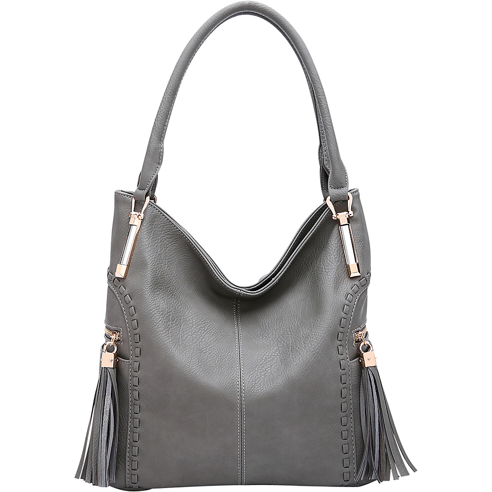 MKF Collection by Mia K. Farrow Betsy Shoulder Bag Grey - MKF Collection by Mia K. Farrow Manmade Handbags - Handbags, Manmade Handbags