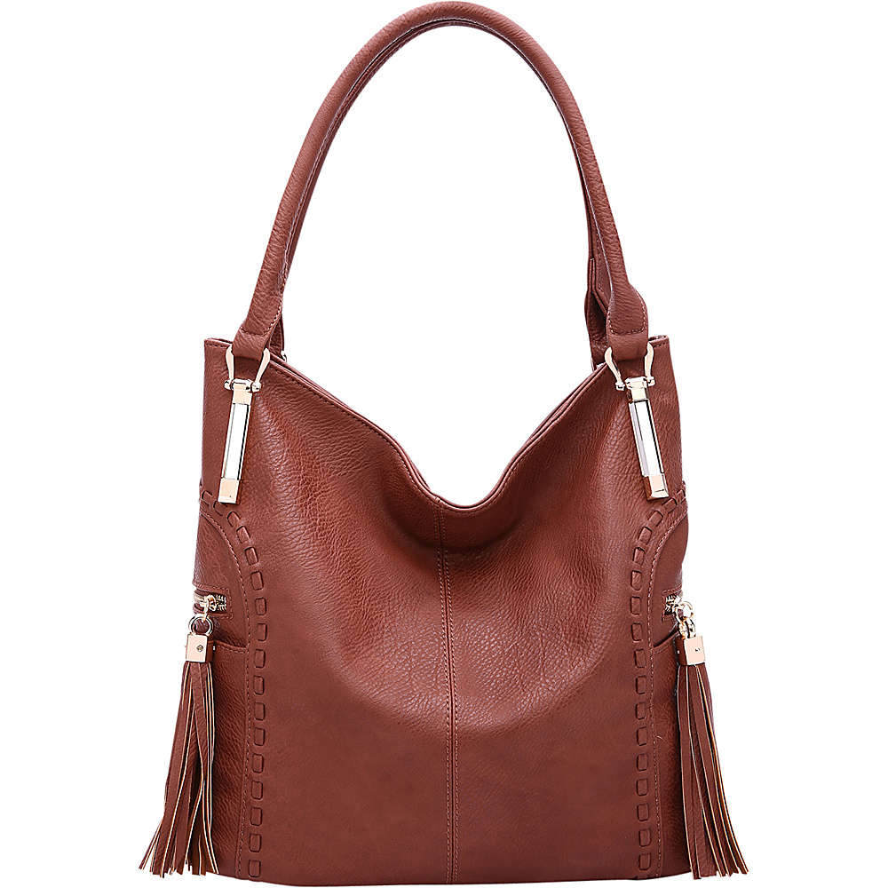 MKF Collection by Mia K. Farrow Betsy Shoulder Bag Cognac Brown - MKF Collection by Mia K. Farrow Manmade Handbags - Handbags, Manmade Handbags