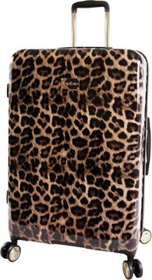 BEBE Adriana 29 inch Hardside Checked Spinner Luggage Leopard - BEBE Hardside Checked