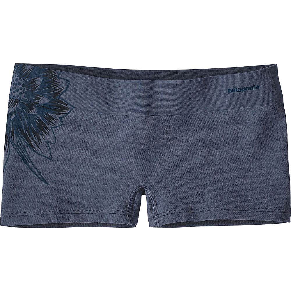 Patagonia Womens Active Mesh Boy Shorts XS - Cereus Graphic: Dolomite Blue - Patagonia Womens Apparel - Apparel & Footwear, Women's Apparel