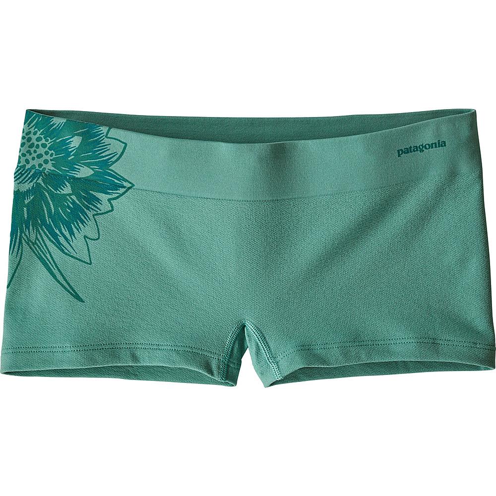 Patagonia Womens Active Mesh Boy Shorts L - Cereus Graphic: Beryl Green - Patagonia Womens Apparel - Apparel & Footwear, Women's Apparel