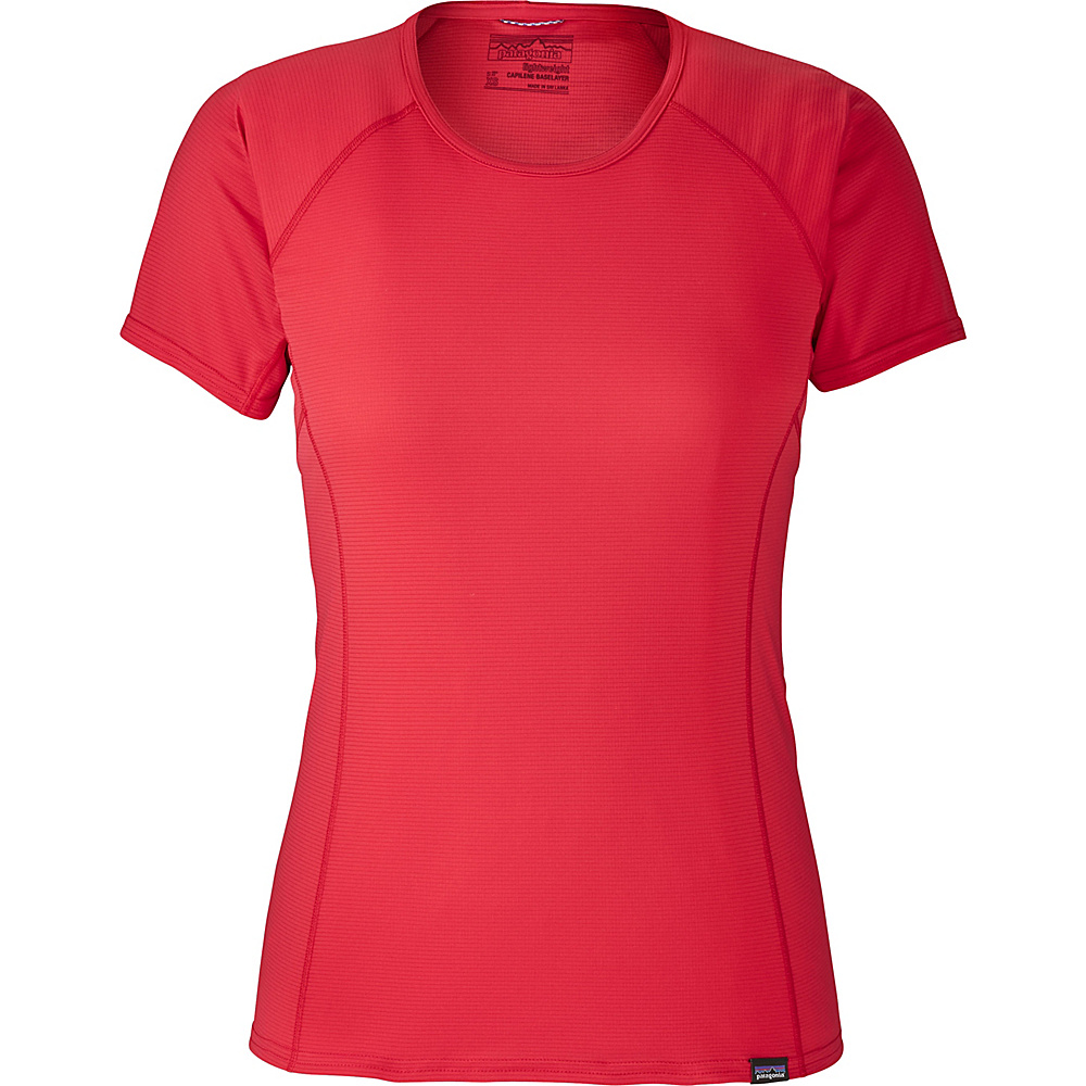 Patagonia Womens Cap LW T-Shirt XL - Maraschino - Patagonia Womens Apparel - Apparel & Footwear, Women's Apparel