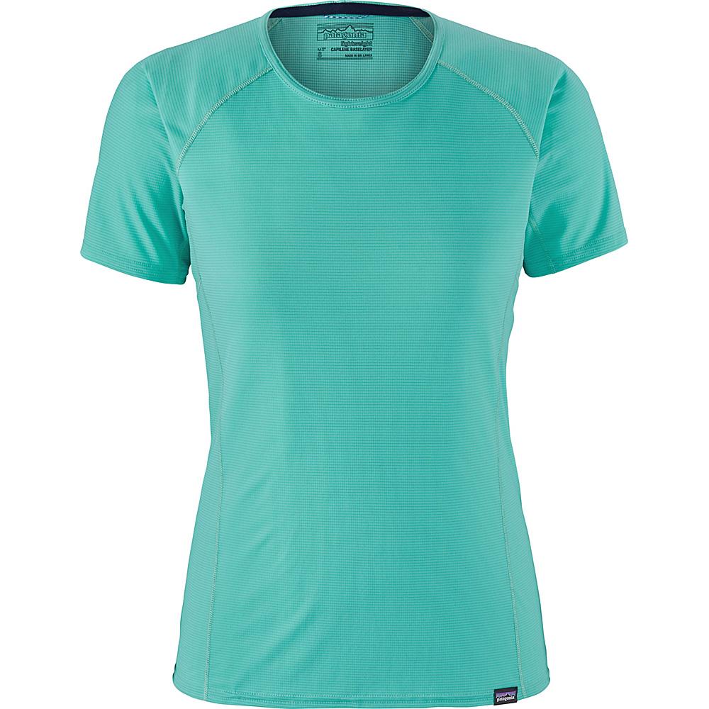 Patagonia Womens Cap LW T-Shirt L - Strait Blue - Patagonia Womens Apparel - Apparel & Footwear, Women's Apparel