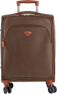Jump Uppsala Expandable Carry-On Spinner Suitcase Chocolate - Jump Softside Carry-On