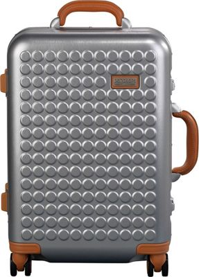 Dot Drops Chapter 4 22 inch Hardside Carry-On Spinner Luggage Silver - Dot Drops Hardside Carry-On