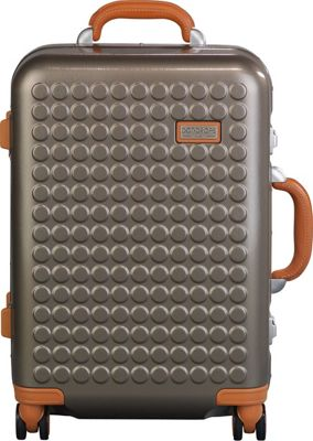 Dot Drops Chapter 4 22 inch Hardside Carry-On Spinner Luggage Champagne - Dot Drops Hardside Carry-On