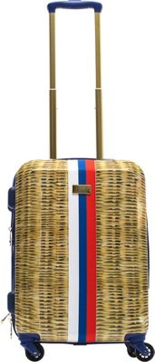 MacBeth Nauti Provence 21 inch Hardside Carry-On Spinner Luggage Tan - MacBeth Hardside Carry-On