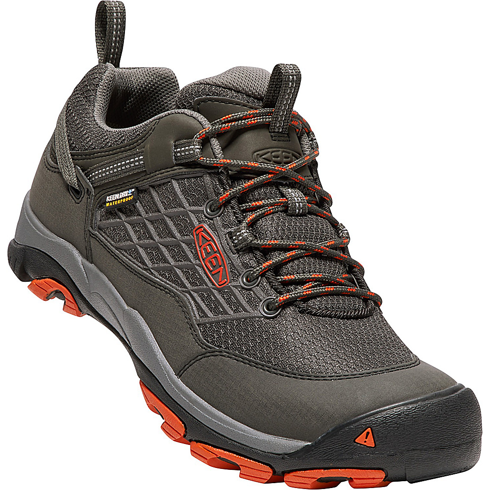 KEEN Mens Saltzman WP Shoe 12 - Raven/Koi - KEEN Mens Footwear - Apparel & Footwear, Men's Footwear