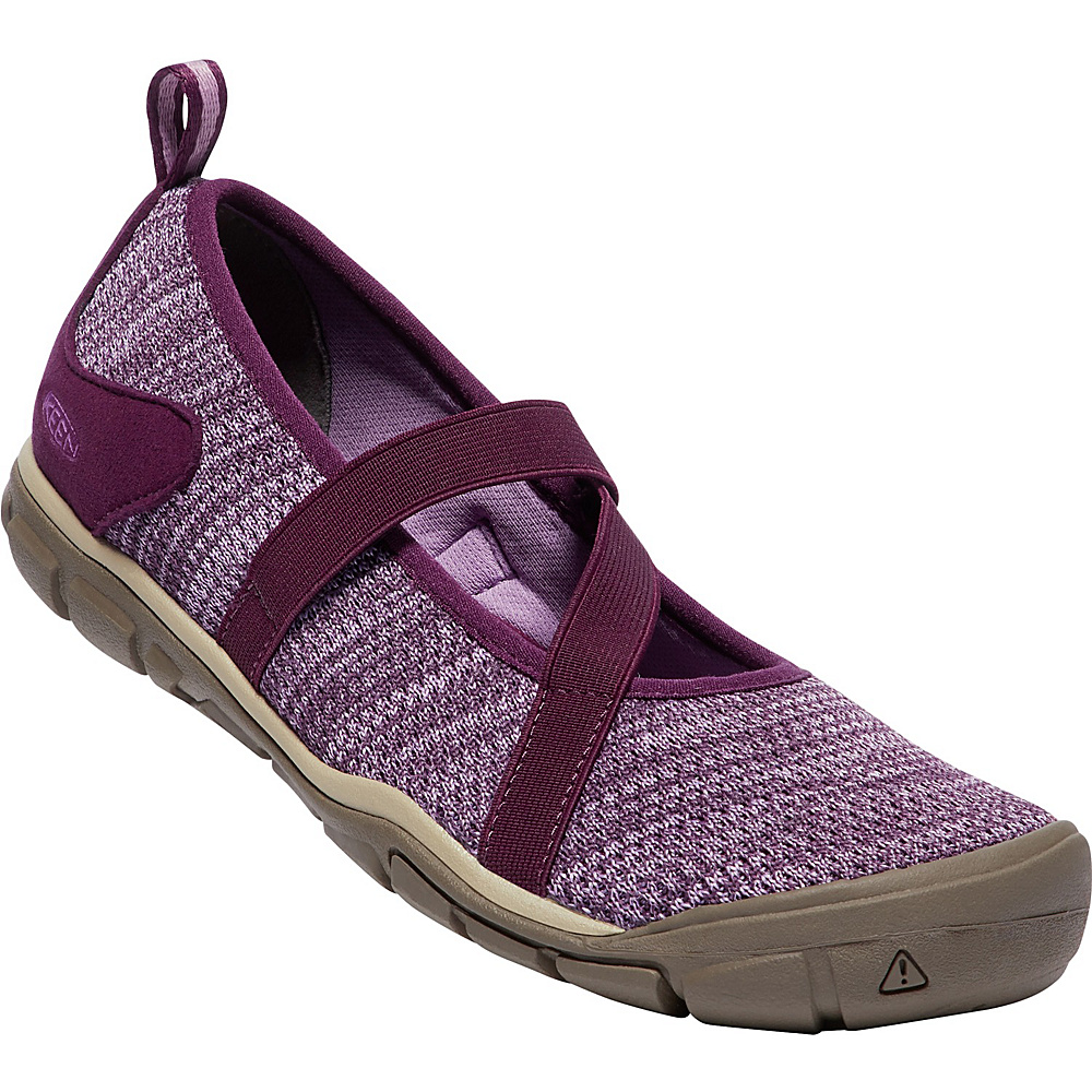 KEEN Womens Hush Knit Mary Janes 11 - Grape Wine/Lavender Herb - KEEN Womens Footwear - Apparel & Footwear, Women's Footwear