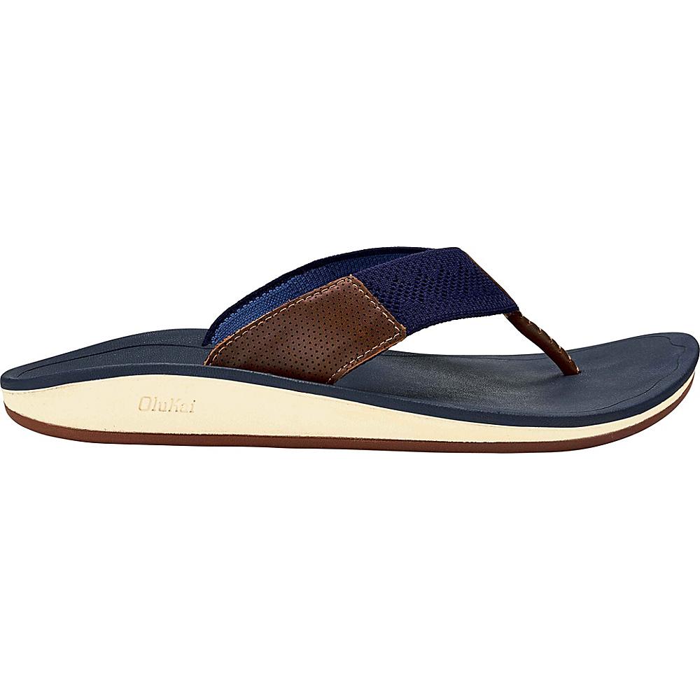 OluKai Mens Nohona Ulana 15 - Trench Blue/Trench Blue - OluKai Mens Footwear - Apparel & Footwear, Men's Footwear