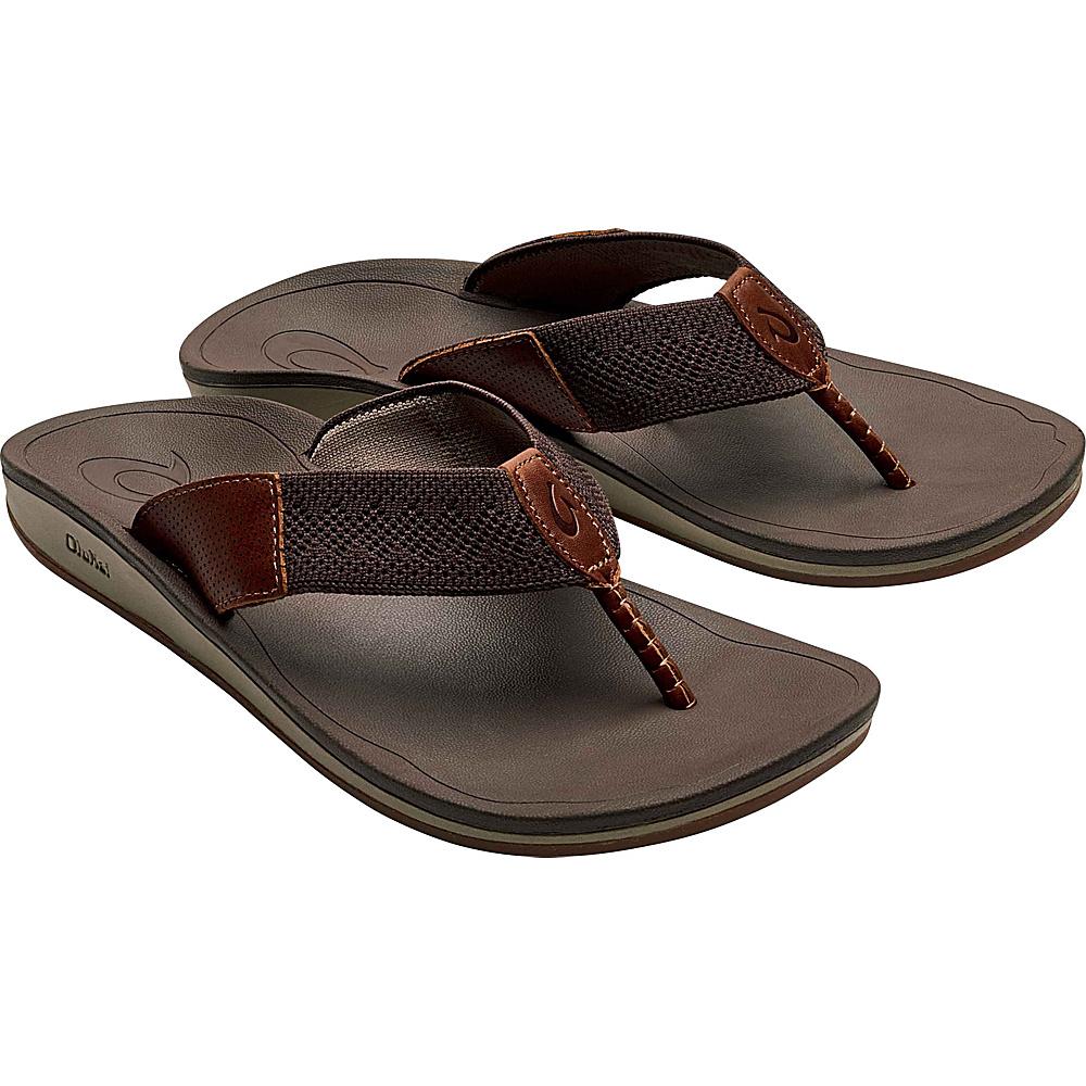 OluKai Mens Nohona Ulana 7 - Dark Wood/Dark Wood - OluKai Mens Footwear - Apparel & Footwear, Men's Footwear