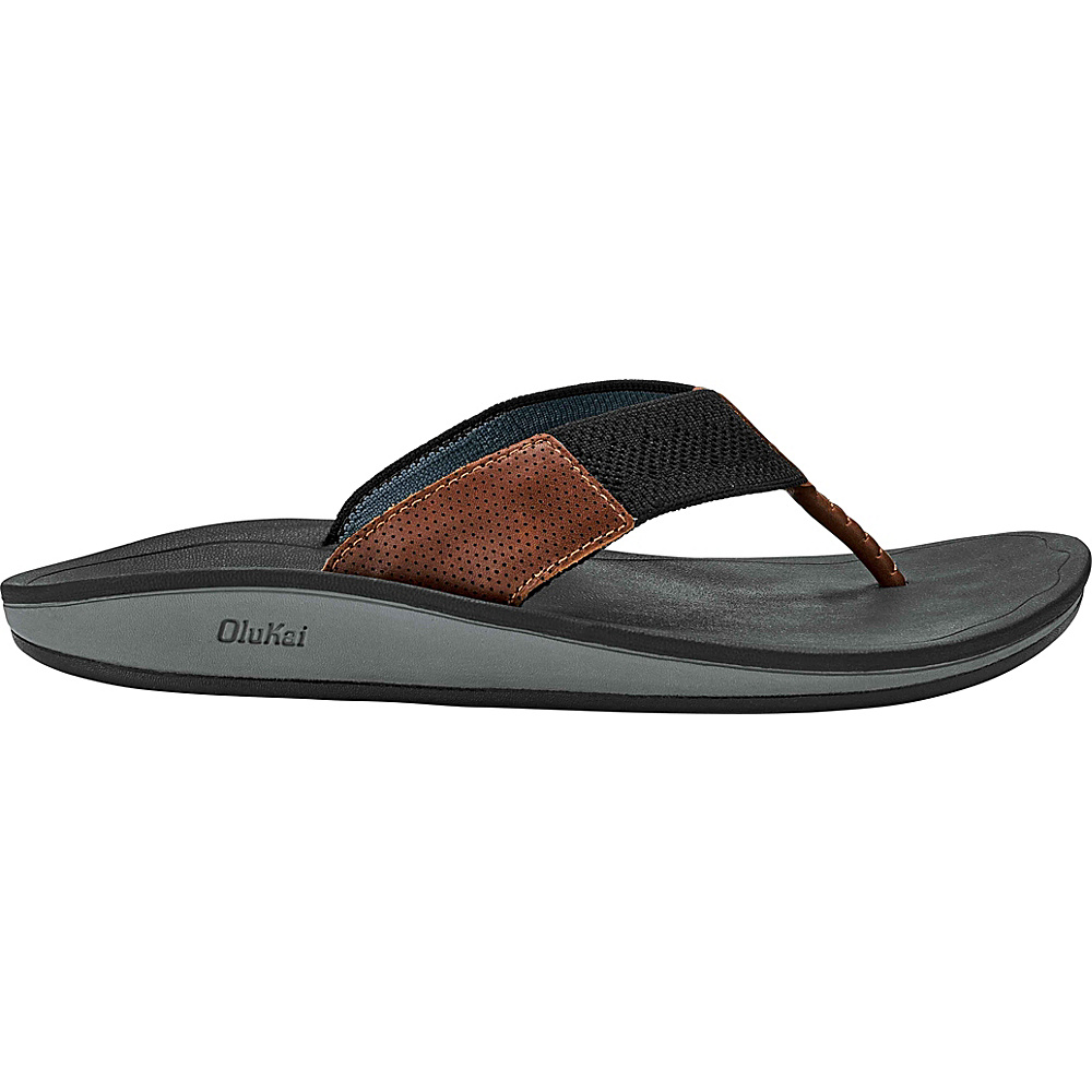 OluKai Mens Nohona Ulana 7 - Black/Black - OluKai Mens Footwear - Apparel & Footwear, Men's Footwear