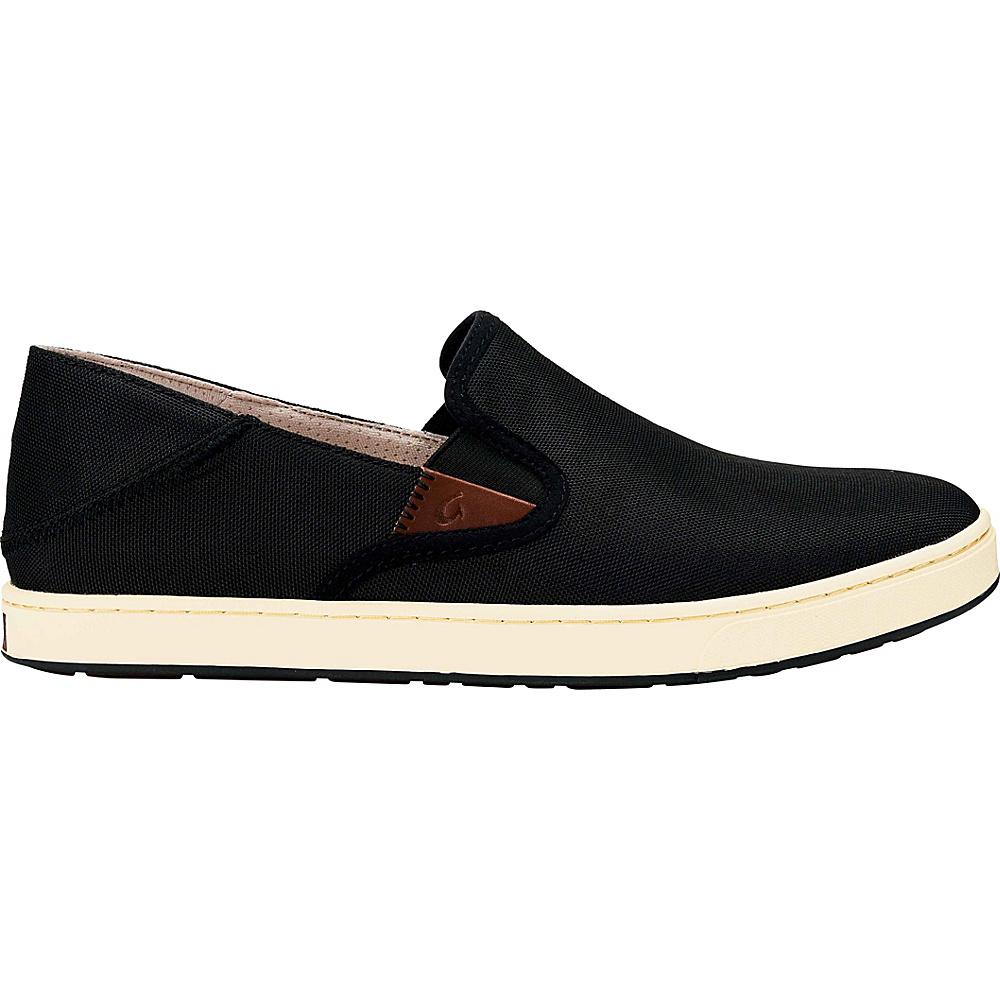 OluKai Mens Kahu Slip-On 7 - Black/Off White - OluKai Mens Footwear - Apparel & Footwear, Men's Footwear