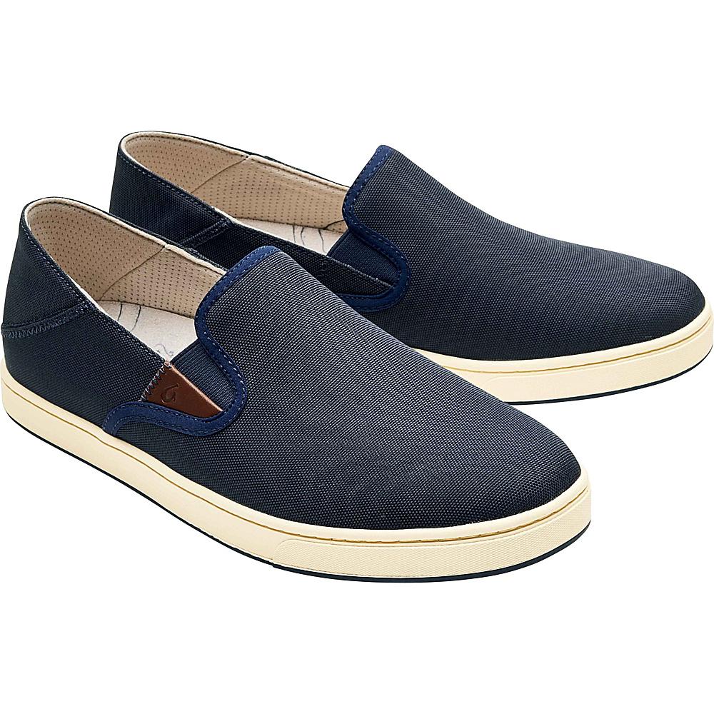 OluKai Mens Kahu Slip-On 12 - Trench Blue/Off White - OluKai Mens Footwear - Apparel & Footwear, Men's Footwear