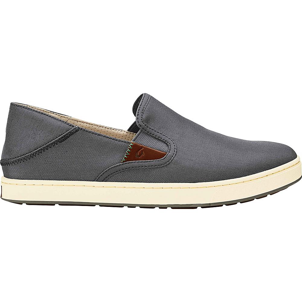 OluKai Mens Kahu Slip-On 8 - Charcoal/Off White - OluKai Mens Footwear - Apparel & Footwear, Men's Footwear