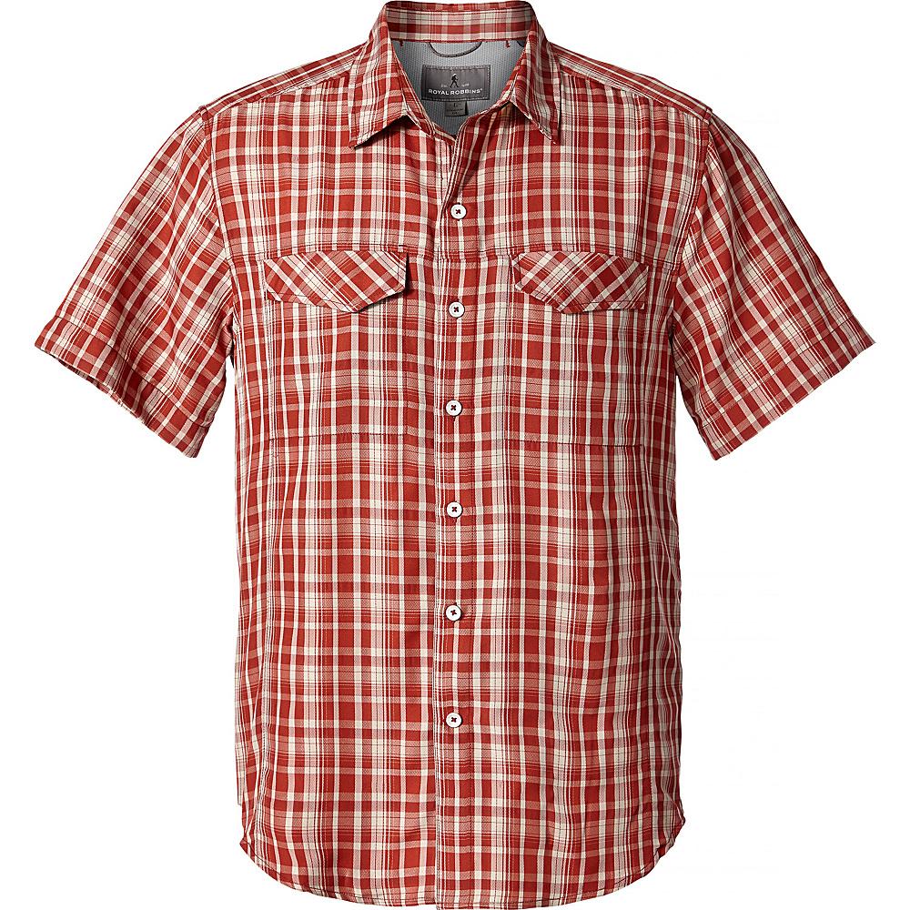 Royal Robbins Mens Ultra-Light Short Sleeve Shirt S - Sumac - Royal Robbins Mens Apparel - Apparel & Footwear, Men's Apparel