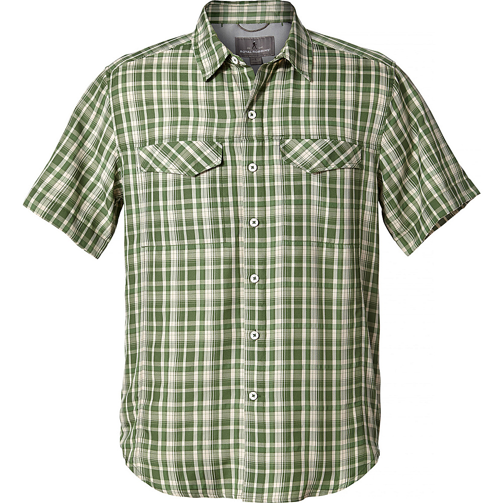 Royal Robbins Mens Ultra-Light Short Sleeve Shirt XL - Elm Green - Royal Robbins Mens Apparel - Apparel & Footwear, Men's Apparel